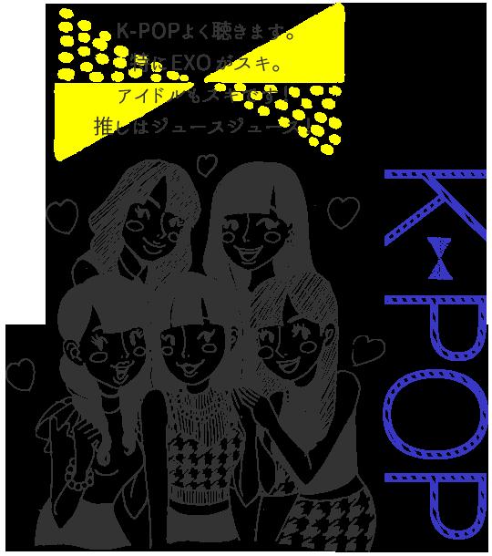 K-POPよく聴きます。特にEXOがスキ。アイドルもスキです!推しはジュースジュース!